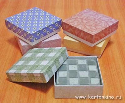 Квадратная коробочка - упаковка для мыла ручной работы