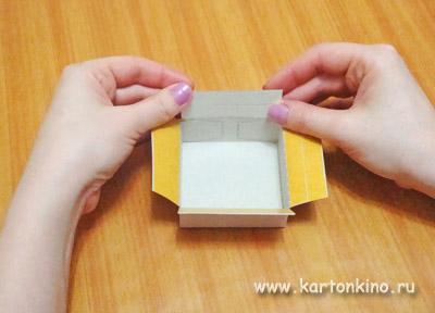 Квадратная коробочка в 5 шагов: мастер-класс