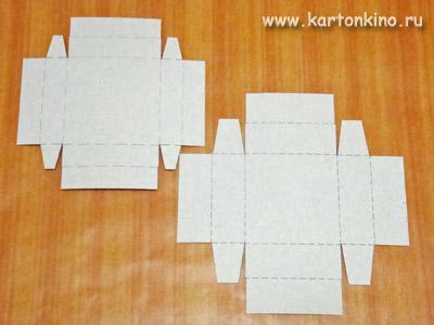 Коробочки своими руками квадратные