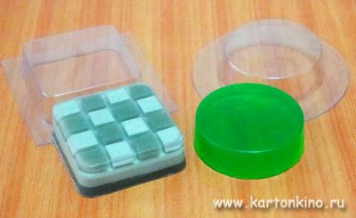 Мыло из квадратной и круглой пластиковых форм