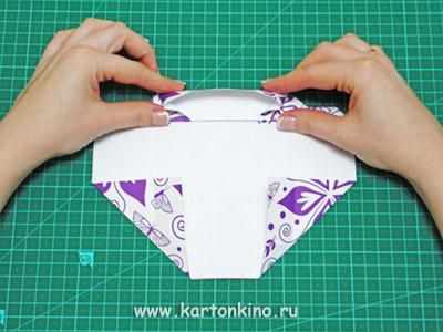 Подарочная оригами коробочка