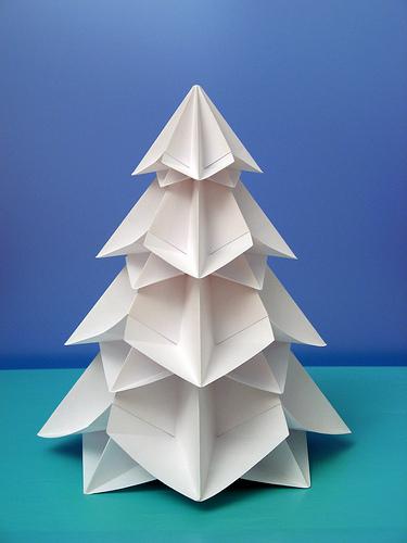 Елочка оригами: мастер-класс.