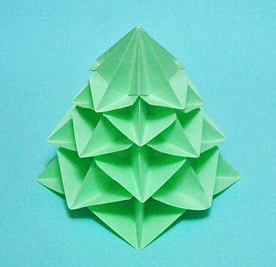 Елочка оригами: мастер-класс