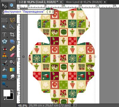 Декорирование коробочки для кекса в Photoshop Elements 10