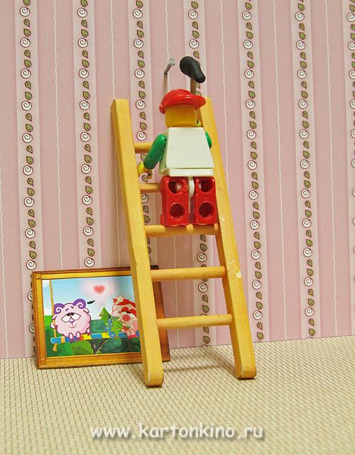Миниатюрная лестница из бумаги