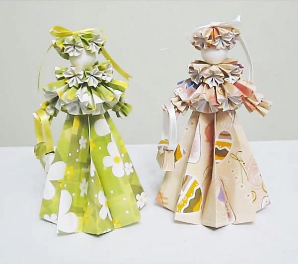 Объёмные куклы из бумаги