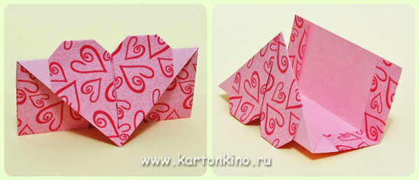 Конверт оригами ко Дню влюблённых