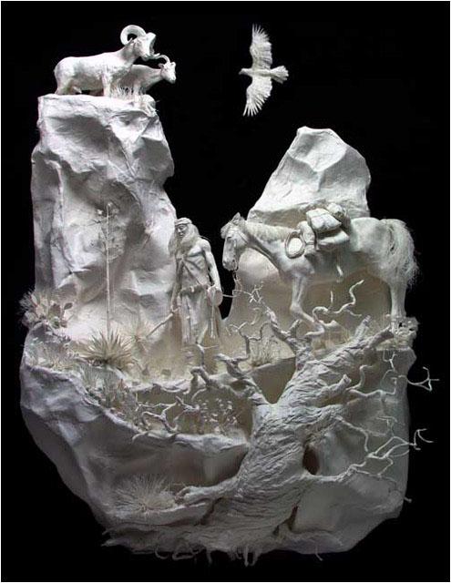 Бумажные скульптуры (Eckman Method)