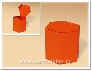 Коробочка - призма шестиугольная