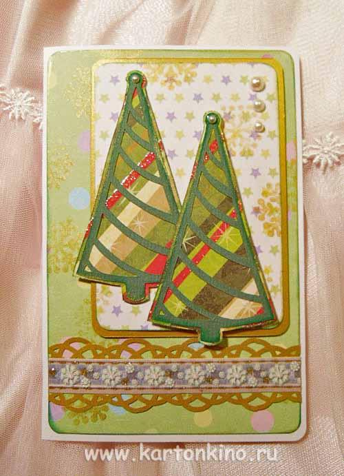 Новогодние открытки своими