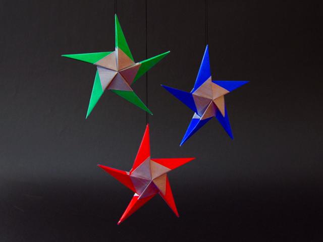 Оригами звёздочки