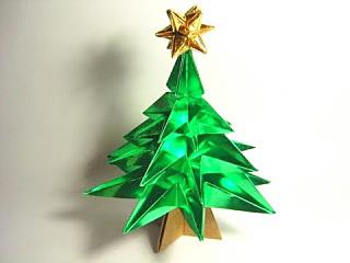 Оригами елочка (Jo Nakashima)