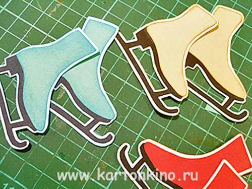 Открытки с конёчками в стиле скрапбукинг
