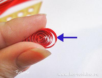 Открытка-валентинка (квиллинг)