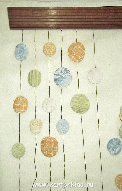 Декоративная шторка из бумаги
