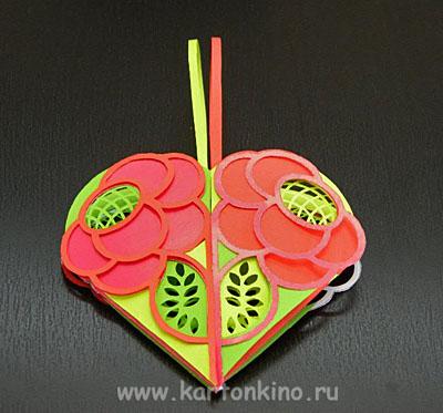 Валентинка-букетик