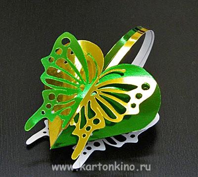Валентинка-бабочка
