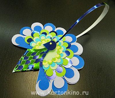 Валентинка-павлин