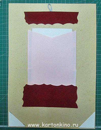 Фоторамка из бумаги в технике вырезания