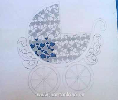 шаблоны деталей коляски на