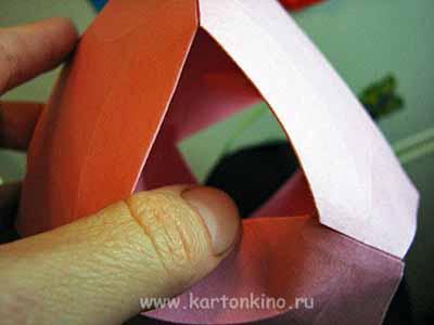 Ваза-коробочка-подвеска из бумаги