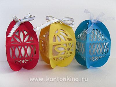 Ажурные коробочки для пасхальных яиц