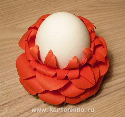 Цветущие подставки для пасхальных яиц