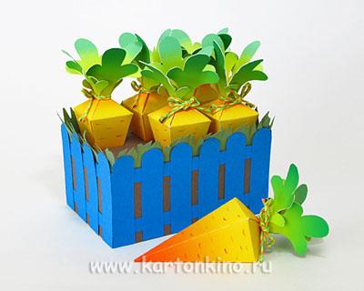 Необычная упаковка: морковная грядка