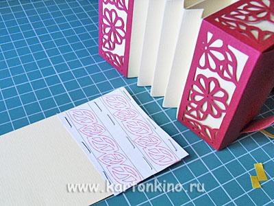 Гармошка из бумаги (подарочная коробочка)