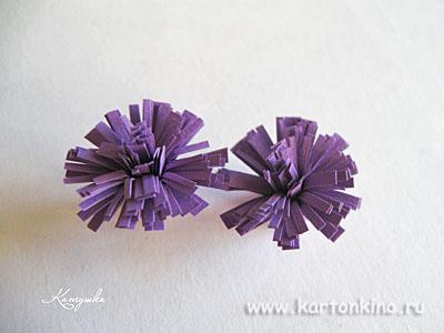 Бахромчатые цветы в технике квиллинг