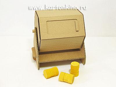 Лотерейный барабан из картона (мастер-класс)