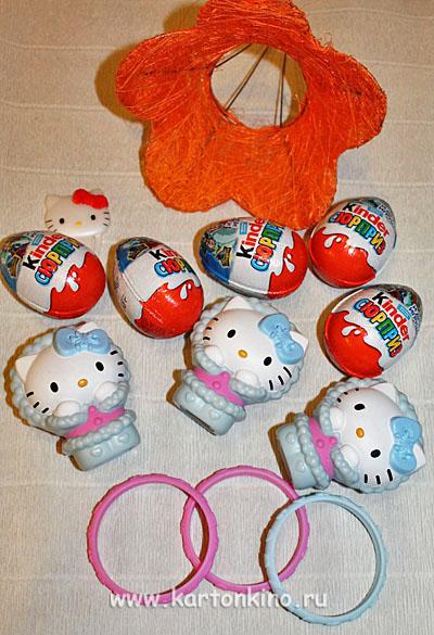 8e1f7d82e0898 Детский букет из Киндер-сюрпризов и игрушек
