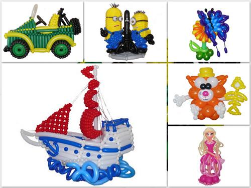 Популярные фигуры из шаров для детских праздников