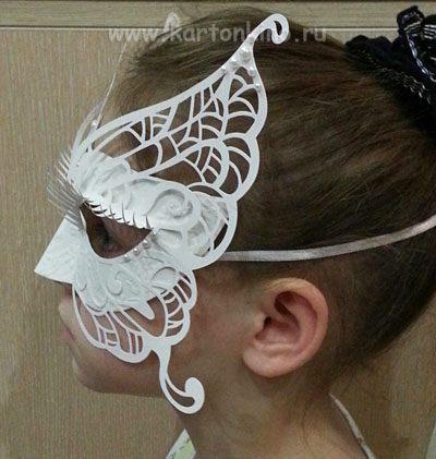 Сделать маскарадную маску своими руками фото