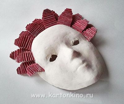 Венецианская маска в технике папье-маше