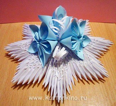 Елочные игрушки  видео оригами