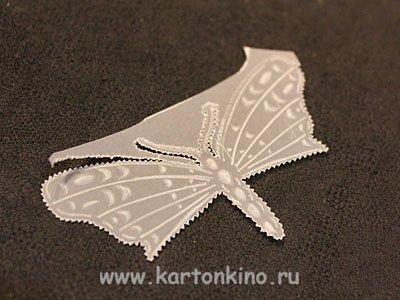 Как делать бабочку в технике пергамано