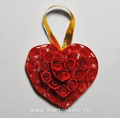 Валентинки квиллинг своими руками