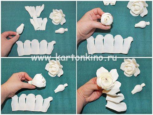 МК роза из конфет