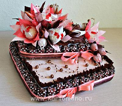Тортик своими руками из конфет