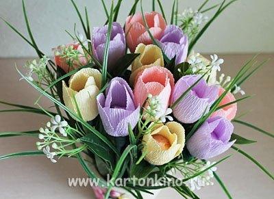 МК тюльпаны из конфет