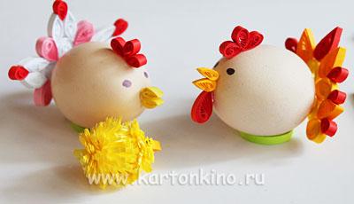 Детские поделки: цыпленок квиллинг