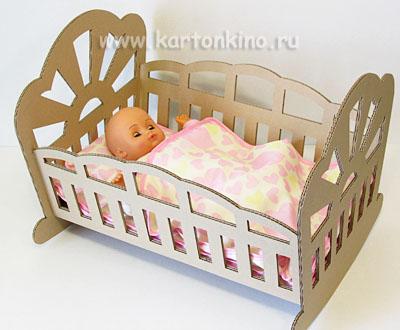 Игрушечная кроватка для куклы своими руками