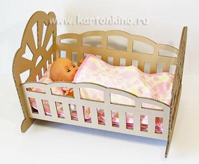 Кукольная кроватка-качалка своими руками