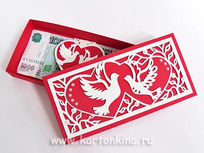 Свадебная коробочка для денег своими руками