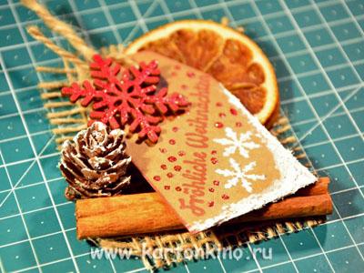 Рождественская открытка в эко-стиле