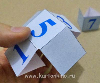Счетчик дней - календарь из бумаги
