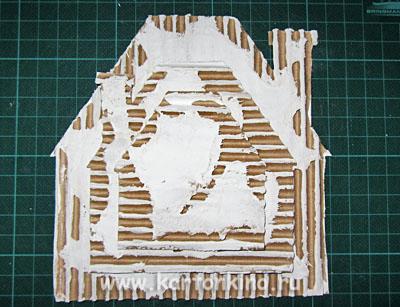 Ёлочное украшение из картона в стиле Шале