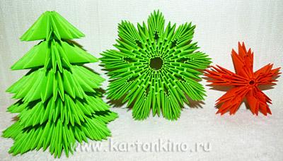 Новогодняя ёлочка в технике модульного оригами