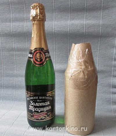 Новогодний декор для бутылки шампанского